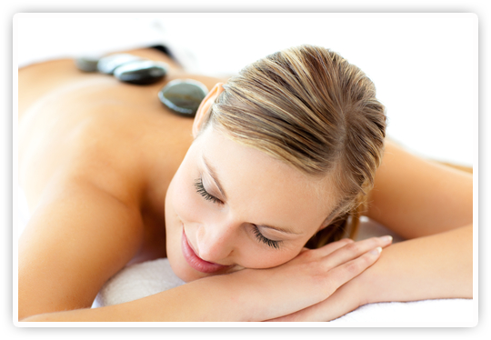 hot stone massage treatment at the tea garden health spa